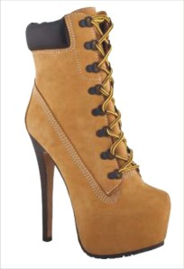 Manolo Blahniks Timberland with heels