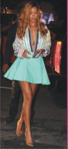 rihanna in skater skirt