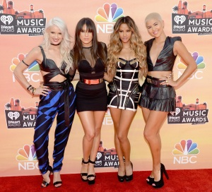 Lauren Bennett, Natasha Slayton, Emmalyn Estrada and Paula Van Oppen of G.R.L