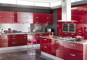 red-color-ideas-Kitchens-cabinets-5