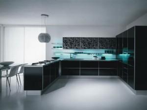 Wonderful-Kitchen-Design-Featuring-Black-Modern-Kitchen-Cabinet-Illuminated-Neon-Lights-and-White-Wall-Ideas-800x600