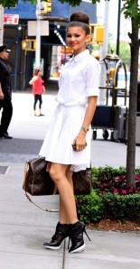 zendaya-coleman-new-york-city-dkny-stretch-cotton-poplin-shirt-dress-pulse-high-top-platform-booties-3