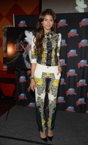 Zendaya-Coleman-Planet-Hollywood-Etro-Printed-Top-Trousers-and-christian-louboutin-pumps