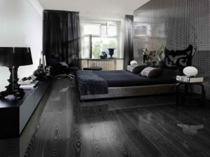 cute-amusing-wood-laminate-black-flooring-ideas-for-elegant-bedroom-interior-decorating-with-contemporary-furniture-as-well-as-desk-lamp-large-console-618x462