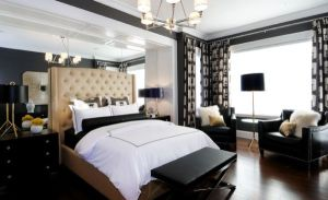 Stunning-bedroom-desgin-combines-modern-decor-with-the-classic-tufted-headboard