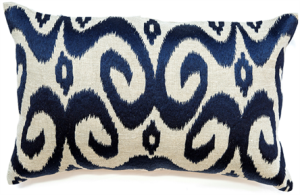 Ikat Navy cushion