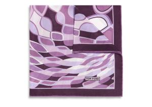 DROPLET PRINT SILK POCKET SQUARE